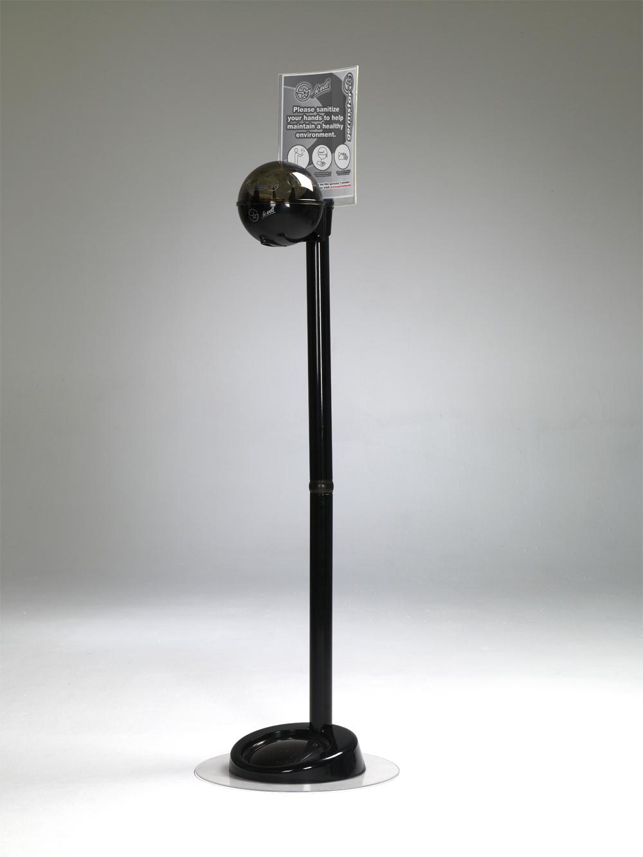 G1 Spender (schwarz/anthrazit) + G1 Premium Bodenständer STANDARD (schwarz)