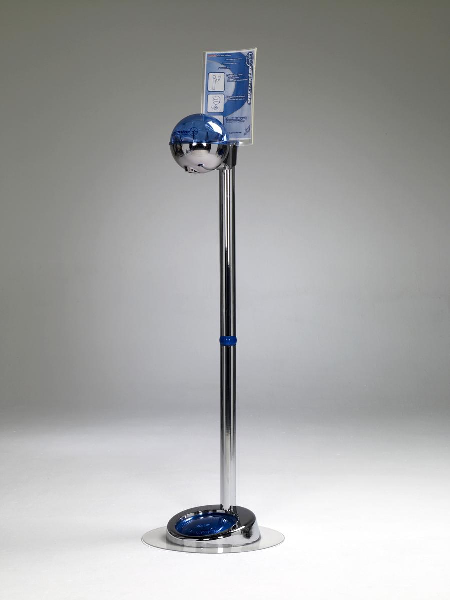 G1 Spender (chrom/blau) + G1 Premium Bodenständer EXTRA (chrom)