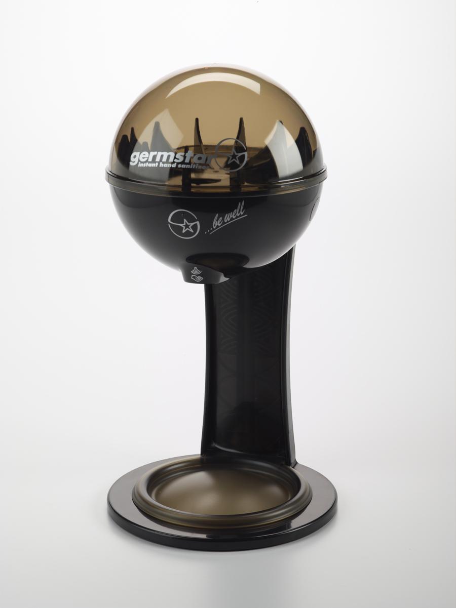 G1 Spender (schwarz/anthrazit) + G1 Kombi Tischständer/Auffangschale NewLook (schwarz/schwarz) 1 berührungsloser Handdesinfektionsspender (946ml) + 1 Tischständer mit integrierter Auffangschale (